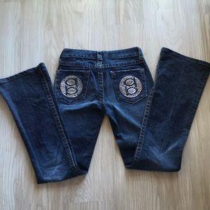 Bebe rhinestone jeans.